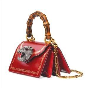 Gucci Thiara Frame PrintMini Red Leather Satchel
